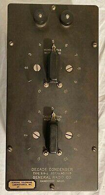 General Radio Decade Condenser Type 219-j 1109