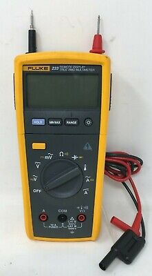 Fluke 233 Remote Display True Rms Multimeter W. Leads