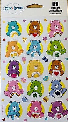 Care Bears Stickers New Sealed 69 Stickers 3 - Scrapbook Stickers