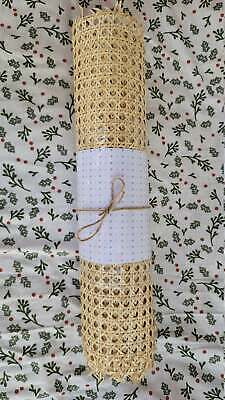 Rattan Webbing Pre-Woven Cane Hexagon 5 FT By 18 Inch wide. DIY Projects