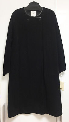 [AR SRPLS] New York Double Face Black Wool Cashmere Coat Sz US 6 / New with Tags