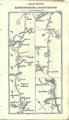 Antique map, Edniburgh to Montrose (2)