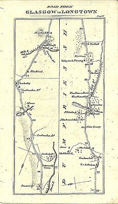 Antique map, Glasgow to Longtown (3)