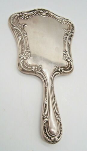 GORHAM STERLING SILVER HAND MIRROR VERY PRETTY WITH FLOWERS