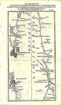 Antique map, Edinburgh to Fort William (1)