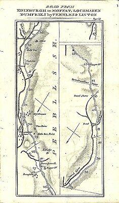 Antique map, Edinburgh to Dumfries (3)