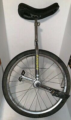 """Lot of 2 Unicycle 16/"""" Cycling In /& Out Door Chrome colored New Great X/'MAS Gift"""