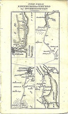 Antique map, Edinburgh to Thurso & Johny Grots (5)
