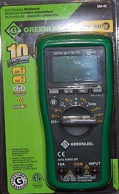 Greenlee Auto Ranging Multimeter Dm-45 600vcat Lll