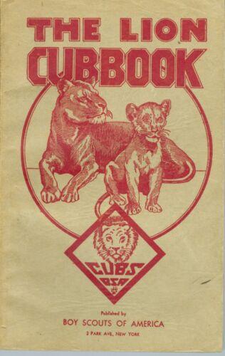 """1943 Cub Scouts """"The Lion Cubbook"""""""
