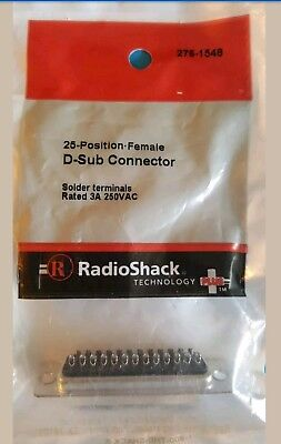 Radioshack 25 Position Female D Sub Connector 2761548 Free Shipping