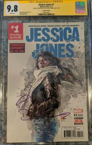 Jessica Jones #1__CGC 9.8 SS__Signed by David Tennant and Krysten Ritter