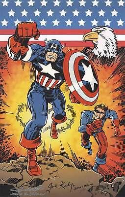 Captain America Jack Kirby Comic Print SIGNED Stulman Marvel Movie Poster Lot