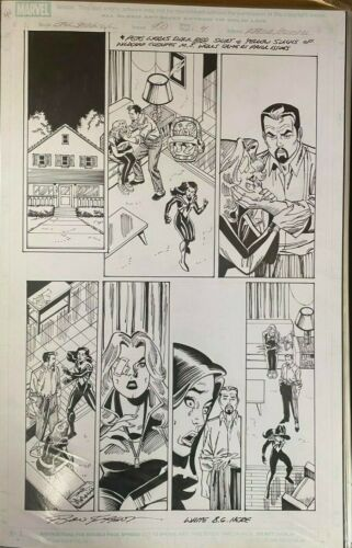 SPEC SPIDER-GIRL #4B PAGE 4 RON FRENZ SIGNED ORIGINAL ART PAGE 11 x 17 #oa-1206
