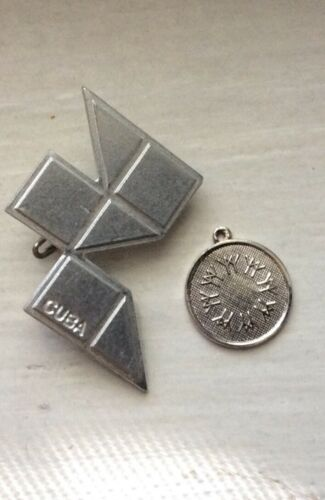 EXPO 67 CENTENNIAL CANADA - Sterling Vintage Charm MONTREAL WORLDS FAIR CUBA PIN