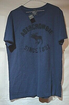ABERCROMBIE & FITCH ~MUSCLE~ SMART DESIGNER FITTED BLUE POLO SHIRT XXL