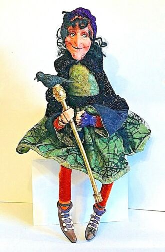 """20"""" COMPOSITE HALLOWEEN WITCH DOLL"""