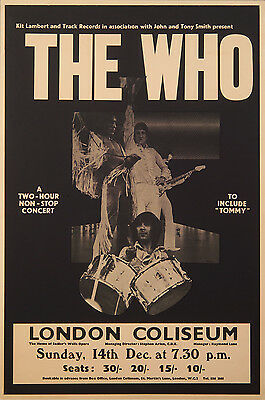 The Who - 1969 London Coliseum Poster
