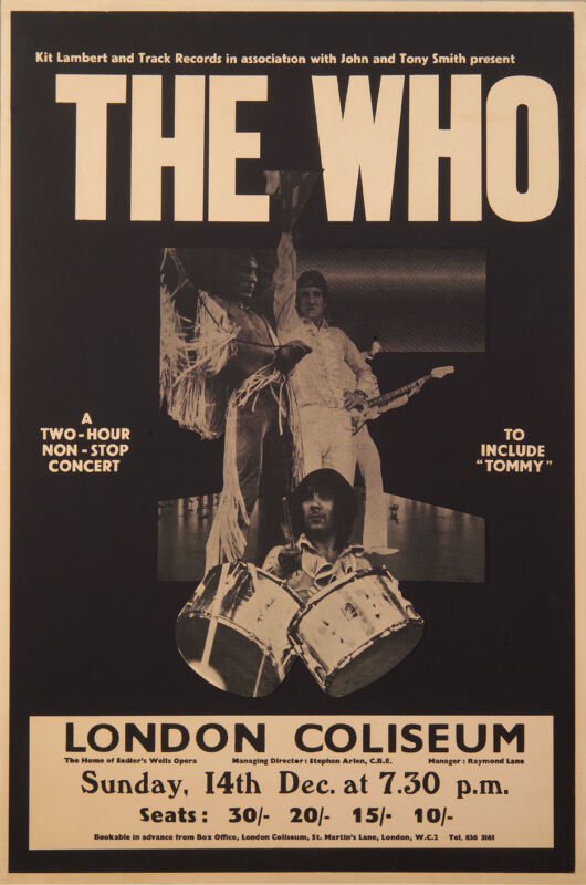 "The Who - 1969 London Coliseum Poster - 20""x30"""