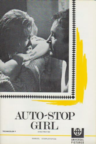Rod STEIGER - Claire BLOOM - Judy GEESON  Pressbook MGM AUTO STOP GIRL