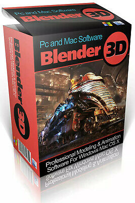New Blender 3D Modelling Design And Animation Software Windows & Mac OS-X