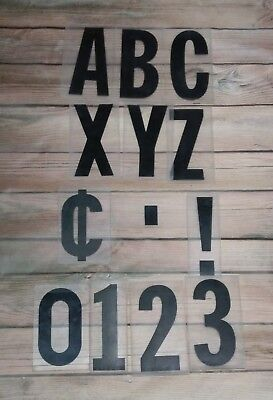 Lot Of Plastic Outdoor Sign Reader Board Letters And Numbers-you Pick