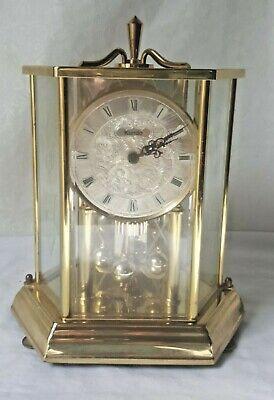Vintage Brass KUNDO Kenninger & Obergfell Balance Quartz Mantle Clock W Germany