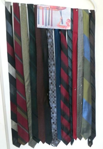 Lot of 14 Vintage Skinny Ties Silk and Blends Rockabilly 50s 60s