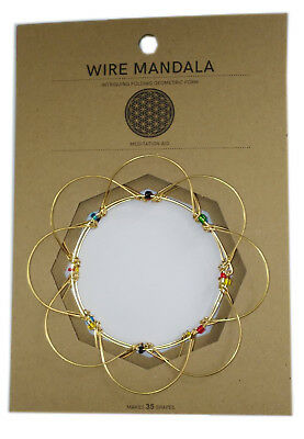 FOLDING WIRE MEDITATION MANDALA SPIRITUALITY PRAYER PUZZLE CHRISTMAS GIFT XMAS