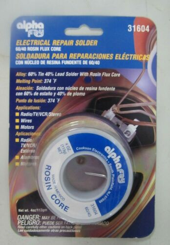 Alpha Fry Electrical Repair Solder #31604  Rosin Flux Core  NEW