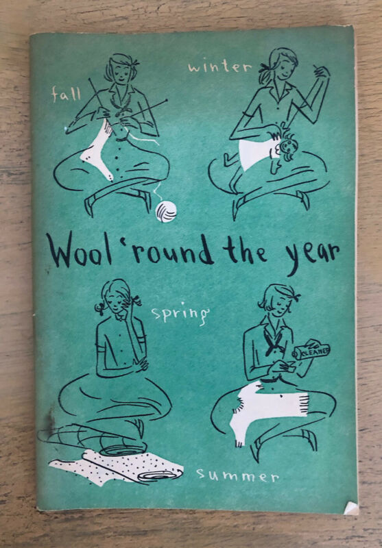 Vintage Girl Scout Wool Round The Year Booklet 1949 Wool Bureau