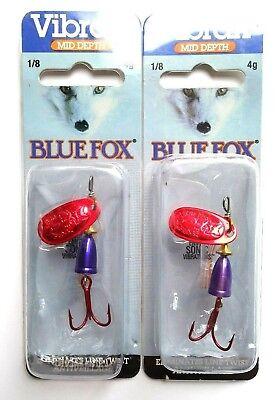 Item G 1 4 BLUE FOX VIBRAX SHALLOW Multiple Colors Size 1 Weight 1//8oz