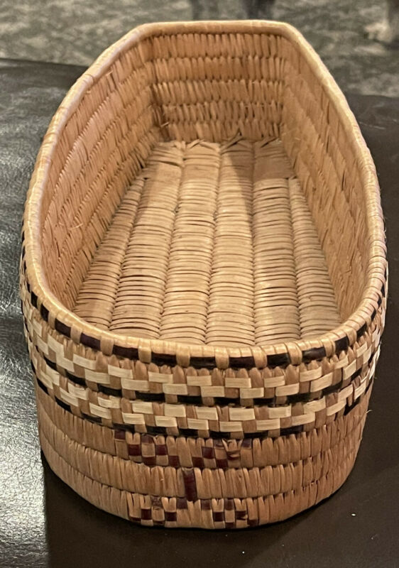 Salish THOMPSON/FRASER RIVER CRADLE BASKET Doll Size A+ Condition Ca 1960