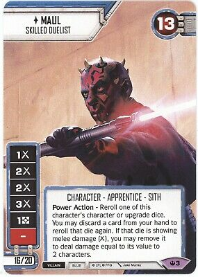 Star Wars Destiny MAUL SKILLED DUELIST Star Wars Celebration 2019 Promo Card