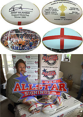 JONNY WILKINSON SIGNED ENGLAND WORLD CUP 2003 RUGBY BALL COA & PHOTO PROOF