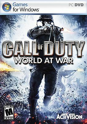 CALL OF DUTY WORLD AT WAR PC  NEW SEALED FAST DELIVERY