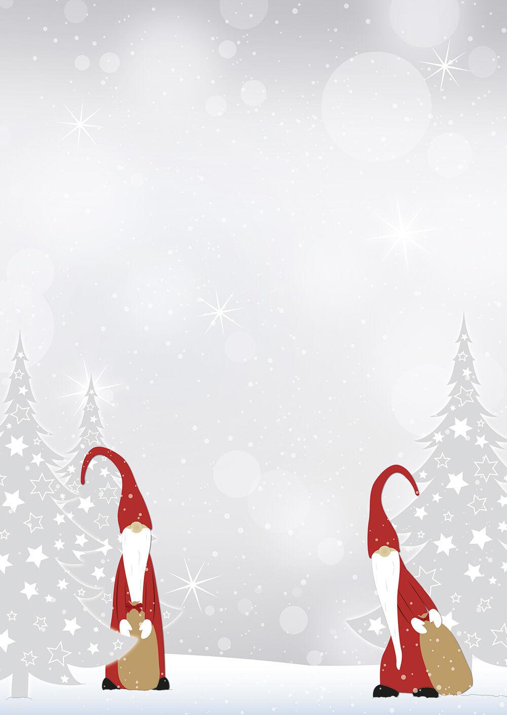 weihnachten wichtel grau rot motivpapier briefpapier 20
