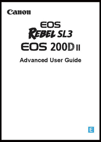 Canon EOS Rebel SL3 Instruction Owner User