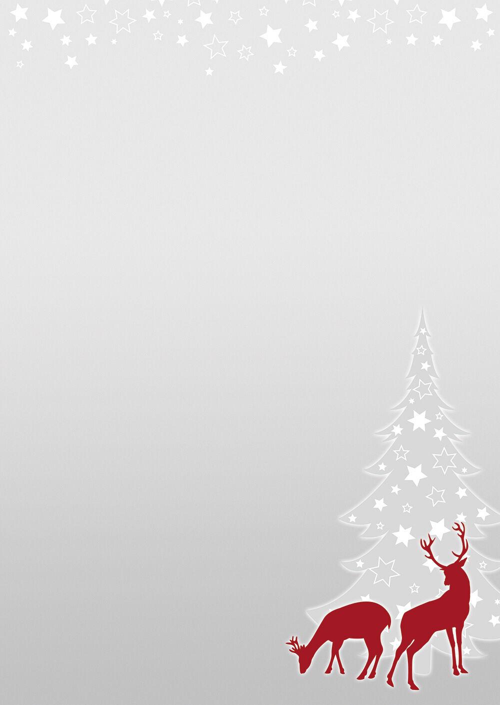 weihnachten rotwild reh grau rot motivpapier briefpapier. Black Bedroom Furniture Sets. Home Design Ideas