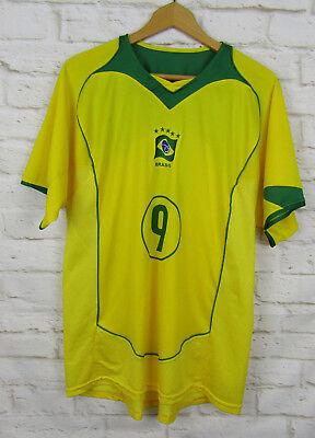 8681795953d Brazil Ronaldo No 9 Soccer Jersey Size Large Brasil Yellow Green