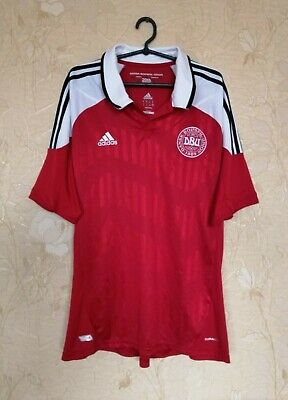 Denmark national team 2012 - 2013 home football shirt jersey Adidas size XL image