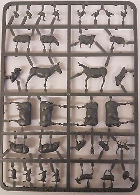 28mm 1/56 scale Detailed Plastic Model FARM ANIMALS PACK - NEW