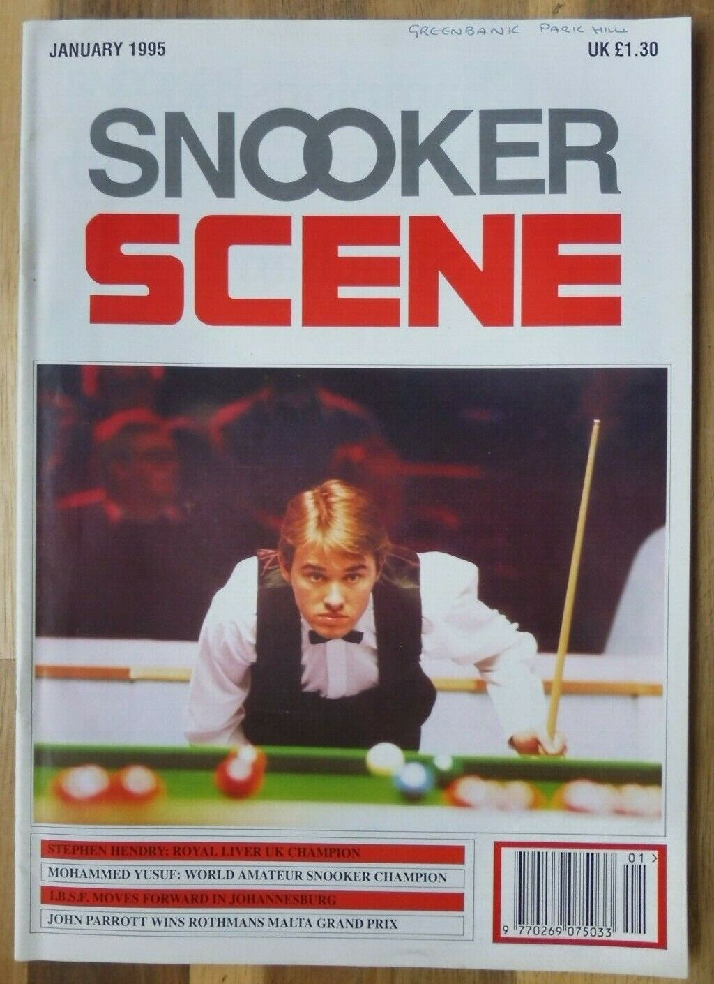 Snooker Scene Magazine, January 1995, Good Condition.
