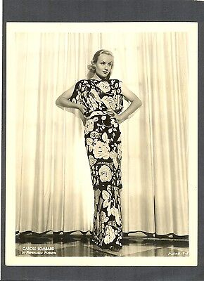 GORGEOUS CAROLE LOMBARD GLAMOR + FASHION - 1935 PHOTO - RUMBA - DIED TOO YOUNG