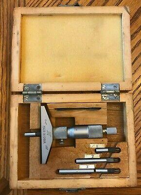 Enco 0 To 4 Depth Micrometer Gage Gauge .001