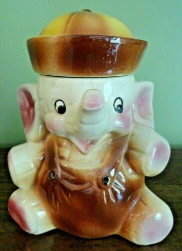 Vintage American Bisque Elephant w/Sailor Suit & Hat Cookie Jar