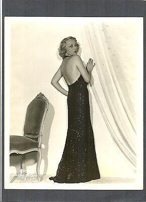 SALLY EILERS GLAMOR + FASHION 1930s PHOTO - STAR OF THE BAD GIRL