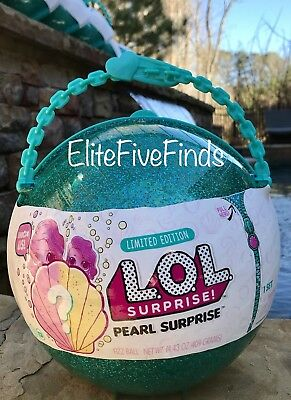 Lol Surprise  Green Mermaid Pearl Surprise Limited Edition Dolls Big Lil Sister