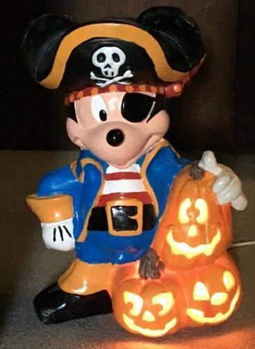 "17"" Trendmasters Disney Halloween Foam Blow Mold Light Mickey Mouse Pirate vtg"