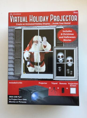 Mr. Christmas Virtual Holiday Projector Halloween & Christmas NEW